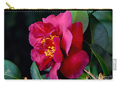 Carry-all Pouch featuring the photograph Christmas Camellia by Marie Hicks