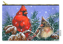 Christmas Cardinals #1 Carry-all Pouch