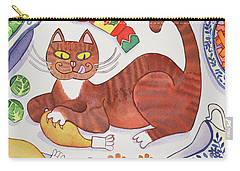 Christmas Cat And The Turkey Carry-all Pouch