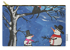 Christmas Cats In Love Carry-all Pouch by Jeffrey Koss