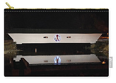 Christmas Covered Bridge Carry-all Pouch