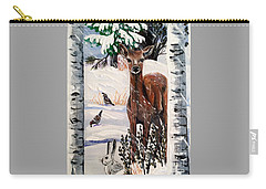 Christmas Deer Friends Carry-all Pouch