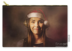 Carry-all Pouch featuring the photograph Christmas Disco Dj Woman by Jorgo Photography - Wall Art Gallery