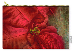 Carry-all Pouch featuring the photograph Christmas Flower by Judy Hall-Folde