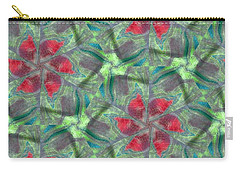 Christmas Flowers Carry-all Pouch by Maria Watt