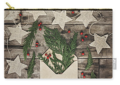 Carry-all Pouch featuring the photograph Christmas Greens by Kim Hojnacki