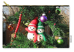 Carry-all Pouch featuring the digital art Christmas Greeters by Ann Johndro-Collins