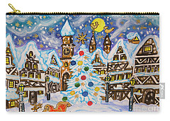 Christmas In Europe Carry-all Pouch by Irina Afonskaya