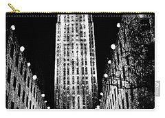 Christmas In New York City Carry-all Pouch by Carol F Austin