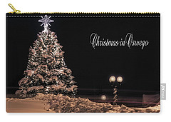 Carry-all Pouch featuring the photograph Christmas In Oswego by Everet Regal