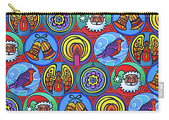 Christmas In Small Circles Carry-all Pouch