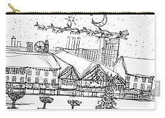 Christmas In The City Carry-all Pouch by Artists With Autism Inc