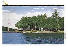 Carry-all Pouch featuring the painting Christmas Island Muskoka by Kenneth M Kirsch