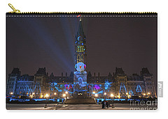 Carry-all Pouch featuring the photograph Christmas Lights Across Canada.. by Nina Stavlund