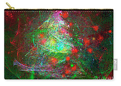 Carry-all Pouch featuring the digital art Christmas Lights And Tree by Russell Kightley