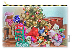 Christmas Morning Fun Carry-all Pouch by Kenny Francis