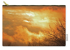 Carry-all Pouch featuring the photograph Christmas Morning Sunrise by Diane Alexander