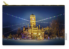 Carry-all Pouch featuring the photograph Christmas On The Square 2 by Michael Arend