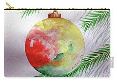 Christmas Ornament Carry-all Pouch by Edwin Alverio