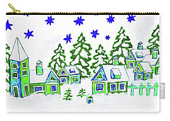 Christmas Picture, Painting Carry-all Pouch