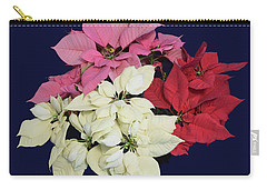 Christmas Pointsettias Carry-all Pouch