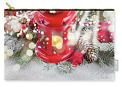 Christmas Red Lantern  Carry-all Pouch