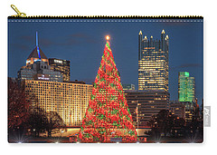 Carry-all Pouch featuring the photograph Christmas  Season In Pittsburgh  by Emmanuel Panagiotakis