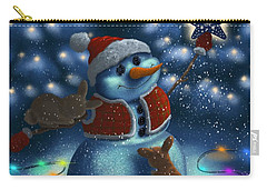 Carry-all Pouch featuring the painting Christmas Season by Veronica Minozzi
