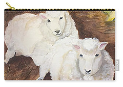 Carry-all Pouch featuring the painting Christmas Sheep by Lucia Grilletto