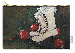 Christmas Skates Carry-all Pouch by Terri Einer