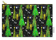 Christmas Snow Fall Carry-all Pouch by Kathleen Sartoris