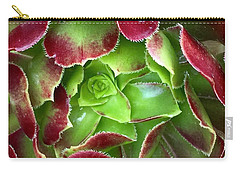 Christmas Succulent Carry-all Pouch by Russell Keating