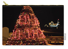 Christmas Time At Nubble Light Carry-all Pouch by Patrick Fennell