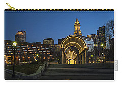 Christopher Columbus Park Boston Ma Trellis Custom House Carry-all Pouch