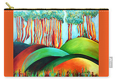 Forest Waltz Carry-all Pouch by Elizabeth Fontaine-Barr