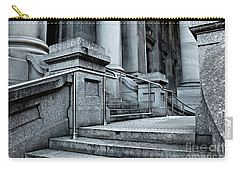 Carry-all Pouch featuring the photograph Chrome Balustrade by Stephen Mitchell