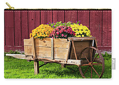 Chrysanthemum Cart Carry-all Pouch by Alan L Graham