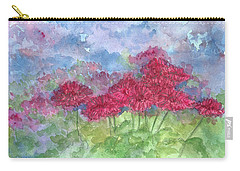 Carry-all Pouch featuring the painting Chrysanthemums by Cathie Richardson