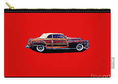 Carry-all Pouch featuring the photograph Chrysler Town And Country Convertible Roadster by Richard W Linford