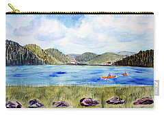 Carry-all Pouch featuring the painting Chrystal Lake  Barton Vt  by Donna Walsh