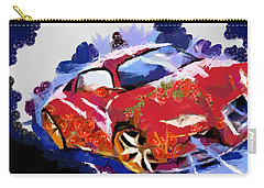 Chubby Car Red Carry-all Pouch by Catherine Lott