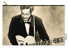 Carry-all Pouch featuring the digital art Chuck Berry by Anthony Murphy