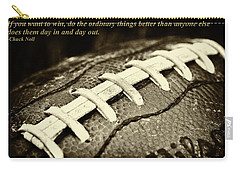 Chuck Noll - Pittsburgh Steelers Quote Carry-all Pouch by David Patterson