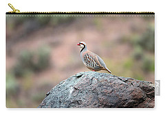 Carry-all Pouch featuring the photograph Chukar Partridge 2 by Leland D Howard