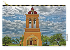 Carry-all Pouch featuring the photograph Church Agios Georgios Corfu by Leigh Kemp