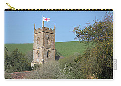Church And The Flag Carry-all Pouch by Linda Prewer