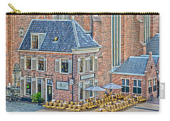 Carry-all Pouch featuring the photograph Church Cafe In Groningen by Frans Blok