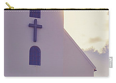 Carry-all Pouch featuring the photograph Church Iceland by Edward Fielding