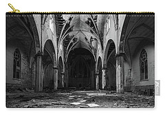 Church In Black And White Carry-all Pouch