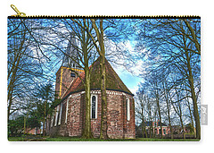 Carry-all Pouch featuring the photograph Church In Winsum by Frans Blok